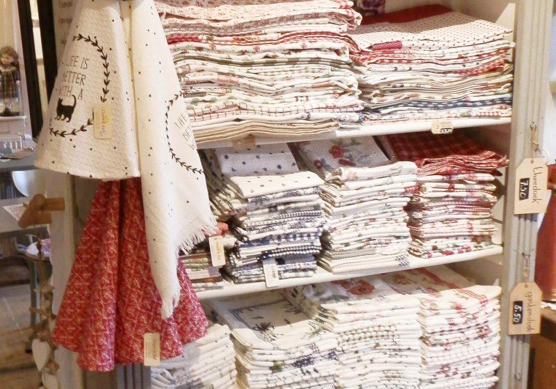 Textiel in de winkel